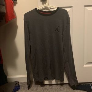 Jordan grey long sleeve - men's large